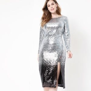 Eloquii Sequence Silver and Black Dress